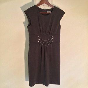 Calvin Klein Charcoal Grey Midi Dress